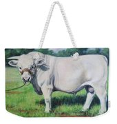 Abraham, French Charolais Bull Weekender Tote Bag