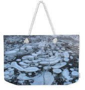 Abraham Lake Ice Bubbles Weekender Tote Bag