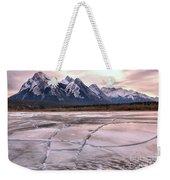 Abraham Lake Ice Sheets Weekender Tote Bag
