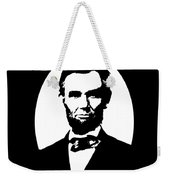 Abraham Lincoln - Black And White Weekender Tote Bag
