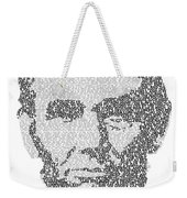 Abraham Lincoln Typography Weekender Tote Bag