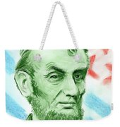 Abraham Lincoln  Weekender Tote Bag by Yoshiko Mishina