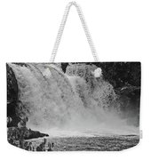 Abrams Falls Cades Cove Tn Black And White Weekender Tote Bag