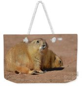 Absolutely Adorable Prairie Dog With  A Friend Weekender Tote Bag
