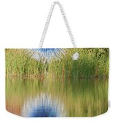 Abstact Sphere Over Water Weekender Tote Bag