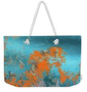 Abstract 104 Digital Oil Painting On Canvas Full Of Texture And Brig Weekender Tote Bag