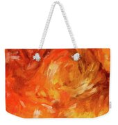 Abstract 106 Digital Oil Painting On Canvas Full Of Texture And Brig Weekender Tote Bag