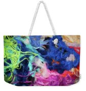 Abstract 130 Digital Oil Painting On Canvas Full Of Texture And Brig Weekender Tote Bag