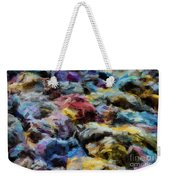 Abstract 133 Digital Oil Painting On Canvas Full Of Texture And Brig Weekender Tote Bag