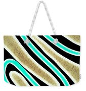 Abstract 35 Golden Tan Green Turquoise Weekender Tote Bag