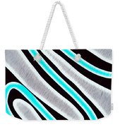 Abstract 35 Silver Blue Turquoise Weekender Tote Bag