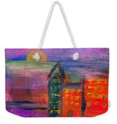 Abstract - Acrylic - Lost In The City Weekender Tote Bag