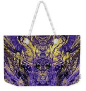 Abstract Amethyst  With Gold Marbled Texture Weekender Tote Bag