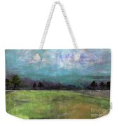 Abstract Aqua Sky Landscape Weekender Tote Bag