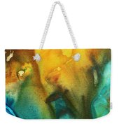 Abstract Art Colorful Turquoise Rust River Of Rust IIi By Madart Weekender Tote Bag