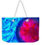 Abstract Art Combination - The Pink Martian Crater, Ca 2017, By Adam Asar ,  In 3d Watercolor Weekender Tote Bag