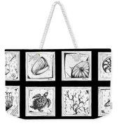 Abstract Art Contemporary Coastal Sea Shell Sketch Collection By Madart Weekender Tote Bag