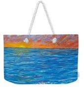 Abstract Art- Flaming Ocean Weekender Tote Bag