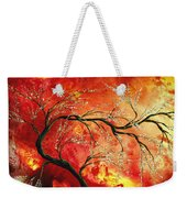 Abstract Art Floral Tree Landscape Painting Fresh Blossoms By Madart Weekender Tote Bag