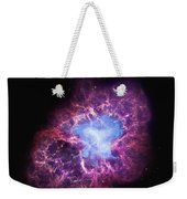 Abstract Heavenly Art - The Crab Nebula Weekender Tote Bag