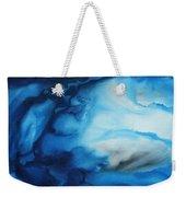 Abstract Art Original Blue Pianting Underwater Blues By Madart Weekender Tote Bag
