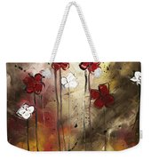 Abstract Art Original Flower Painting Floral Arrangement By Madart Weekender Tote Bag