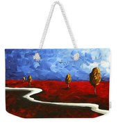 Abstract Art Original Landscape Painting Winding Road By Madart Weekender Tote Bag