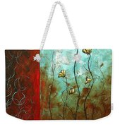 Abstract Art Original Poppy Flower Painting Subtle Changes By Madart Weekender Tote Bag