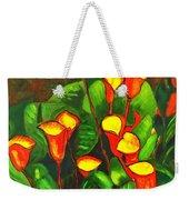 Abstract Arum Lilies Weekender Tote Bag