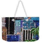 Los Angeles. Rhinestone Mosaic With Beadwork Weekender Tote Bag