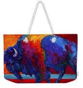 Abstract Bison Weekender Tote Bag