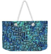 Abstract Blue And Green Pattern Weekender Tote Bag