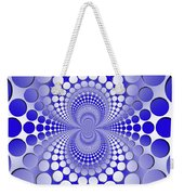 Abstract Blue And White Pattern Weekender Tote Bag