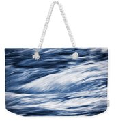 Abstract Blue Background Wild River Weekender Tote Bag