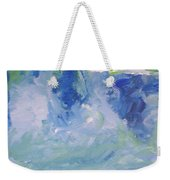 Abstract Blue Reflection Weekender Tote Bag