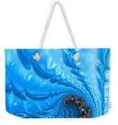 Abstract Blue Winter Fractal Weekender Tote Bag