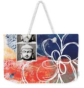 Abstract Buddha Weekender Tote Bag by Linda Woods