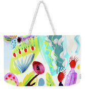Abstract Cactus And Flowers Weekender Tote Bag