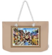 Abstract Canal Scene In Venice L A S With Decorative Ornate Printed Frame. Weekender Tote Bag