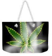 Abstract Cannabis Background Weekender Tote Bag