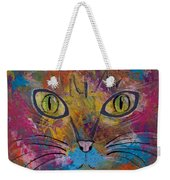 Abstract Cat Meow Weekender Tote Bag