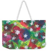 Abstract Circles With Flowers Weekender Tote Bag