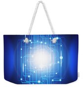 Abstract Circuit Board Lighting Effect  Weekender Tote Bag
