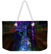 Abstract City In Purple Weekender Tote Bag