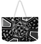 Abstract Cobblestone Blk/wht. Weekender Tote Bag