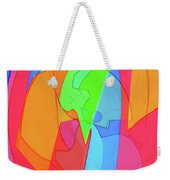 Abstract Color Block  Weekender Tote Bag