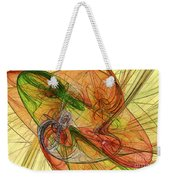 Abstract Color Swirls Weekender Tote Bag