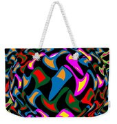 Abstract Colorful Art Exploded View Of Whirlwind At Its Builds On Dry Leaves Weekender Tote Bag