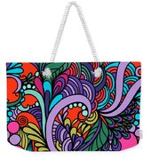 Abstract Colorful Floral Design Weekender Tote Bag