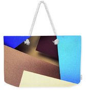 Abstract Composition With Colored Paper Weekender Tote Bag